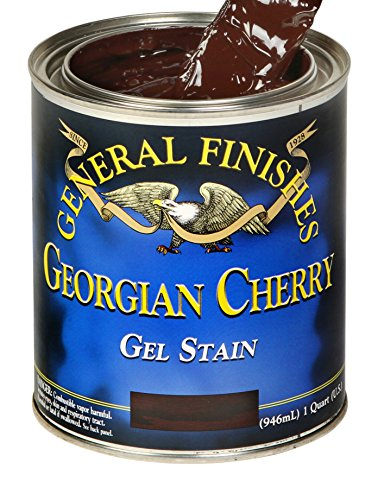 - General Finishes GCP Oil Base Gel Stain, 1 Pint, Georgian Cherry