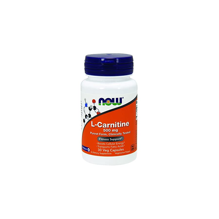 NOW Foods Carnitine, 30 Capsules / 500mg