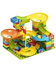 Kompatibel med DUPLO Classic LEGO, NLR FUN Marble Run Track Byggsats, för barn 3-9 år, 100 st