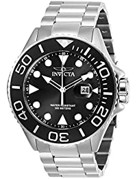Men's Pro Diver Quartz Diving Watch with Stainless-Steel Strap, Silver, 24 (Model: 28765)
