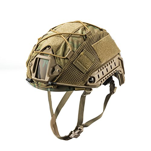 OneTigris Multicam Helmet Cover05 without Helmet for Ops-Core FAST PJ Helmet and PJ helmets in Size M (Multicam - 500D Cordura (Tactical Airsoft Helmet)