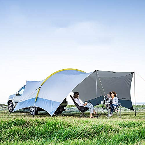 HXML Camping Pickup Truck-Zelt im Freien Markise Familie Sonnenschutz 555X410x230cm