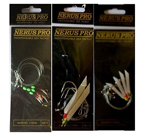 assorted Nerus 10 x Pro Sea Fishing Daylight Rigs