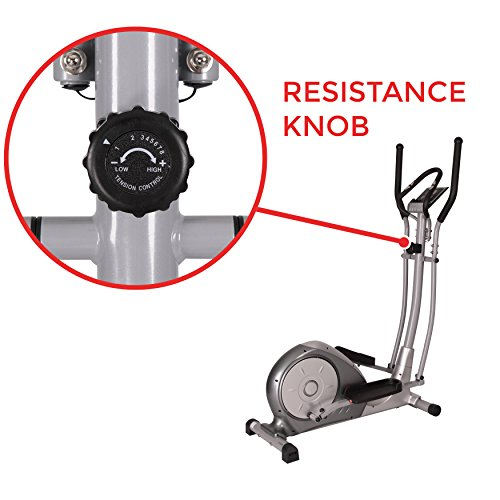 Magnetic Elliptical Trainer with Adjustable Resistance, Hand Pulse Sensors by Sunny Health & Fitness – SF-E3608 by Sunny Health & Fitness (Image #5)
