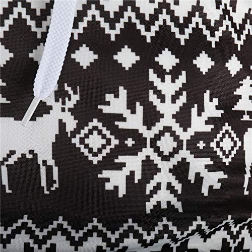Manches Marron Hiver Sweat Longues Casual Sweatshirt overdose Motif Jacquard Christmas De Outwear Homme Hoodie Noël Pullover Z80YwZq