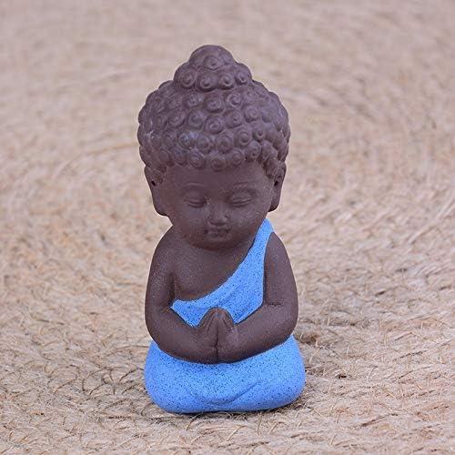 LKXZYX Boda Decoracion Buda budas Figuras de Grandes Salon candelabros Jardin Exterior Monjes Zen Budismo Estatuas Pequeñas Meditación Monje Miniatura: Amazon.es: Hogar