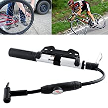 New MINI High Pressure Portable Bicycle Hand Air Pump Inflator Tyre Tire Ball