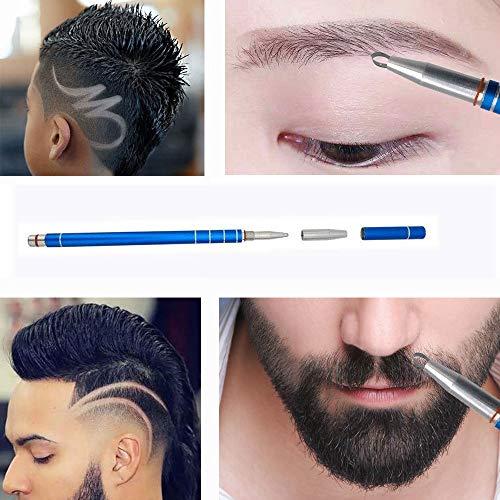 Hair Tattoo Trim Styling Face Eyebrow Shaping Device, JBLCC Engraved Pen +  10 Blades + Tweezer Hair Styling Eyebrows Beards Razor Tool/DIY Hair Tool