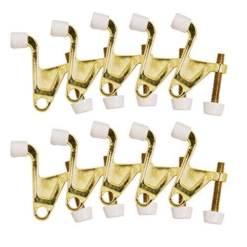 Design House 181826 Jumbo Hinge Pin Door Stop, 10-Pack, Polished Brass