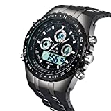ALPS Mens Sports Watch 98FT Water Resistant Fashion Outdoor Analog Digital Display Military Back Light Multifunction Watch