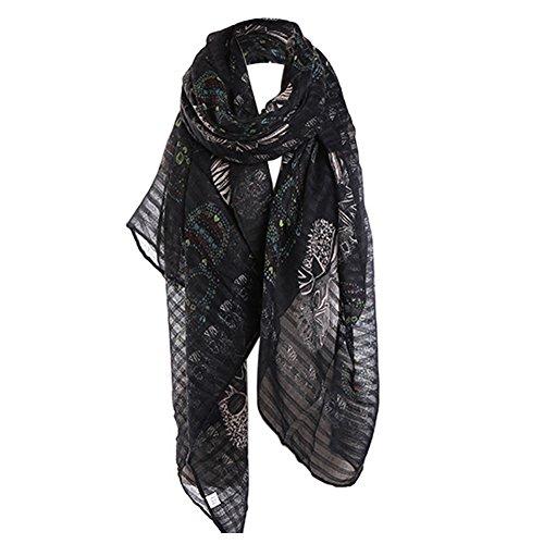 (CHUANGLI Scarf Skullcandy All-match Shawl Sunscreen Amice Fashion Ladies Print Scarf Girls Long Thin Robe)
