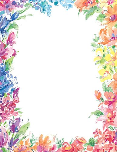 "Great Papers! Bright Floral Letterhead, 80 Count, 8.5""x11"" (2014333)"