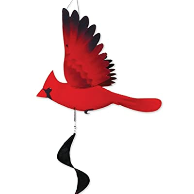 Premier Kites Twister - North American Cardinal : Wind Spinners : Garden & Outdoor