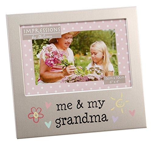 (Oaktree Gifts Me & My Grandma Aluminium Photo Frame 4 x 6)