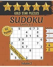 Gold Star Puzzles - Sudoku Levels 4 & 5 - Volume 3: 162 Logic Puzzles - (Very Hard & Fiendish) - Orange Series - Large Print Sudoku Puzzle Book - 12 Bonus Sudoku Variation Puzzles