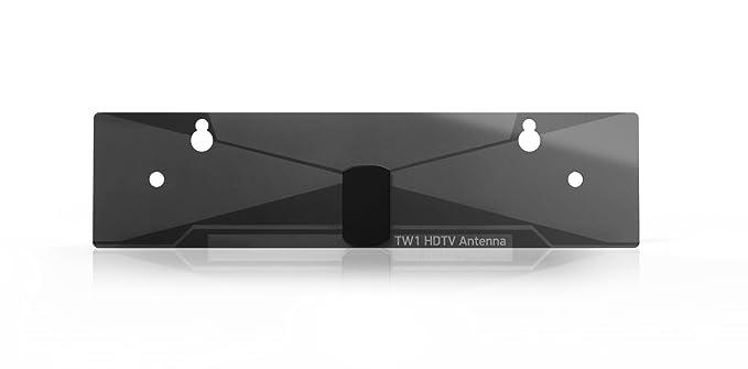 Max Signal TW1 - Antena de TV (HD, UHF y VHF, recibe señales desde 80 km) color negro