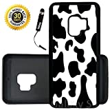 Custom Galaxy S9 Case (Cow Print) Edge-to-Edge Rubber Black Cover Ultra Slim   Lightweight   Includes Stylus Pen by Innosub
