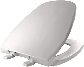 product image for BEMIS 1240200 000 Eljer Emblem Plastic Toilet Seat, ROUND, White