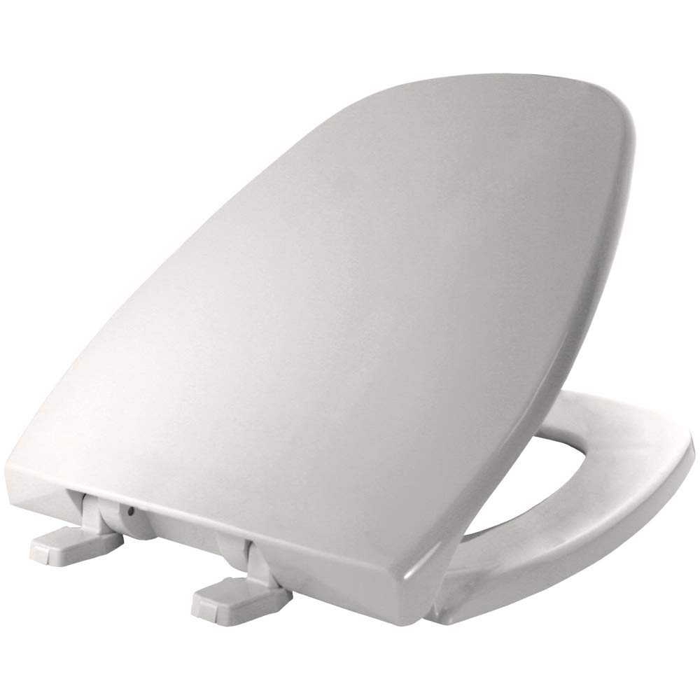 Bemis 1240200 000 Round Closed Front Plastic Toilet Seat With Cover, White by Bemis
