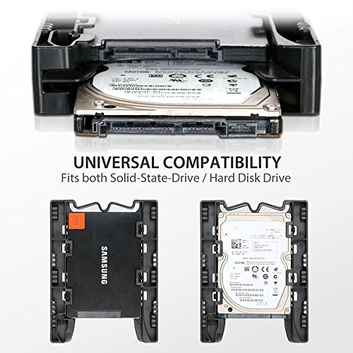 ICY DOCK (With Cables) DUAL Tool-less Dual 2.5 to 3.5 HDD Drive Bay SSD Mounting Bracket Kit Adapter - EZ-Fit Lite MB290SP-1B SSD Bracket by ICY DOCK (Image #4)