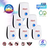 Ultrasonic Pest Repeller-2018 New Electronic Mouse Pest Repellent Plug in Indoor Pest Control Mosquito Repellent for Roach, Spider, Ant, Rodent,Bedbugs, Fly, No Trap, Sprayer,Baits&Poison (6pack)