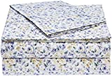Juego de sábanas de Microfibra AmazonBasics - Twin, Floral Azul