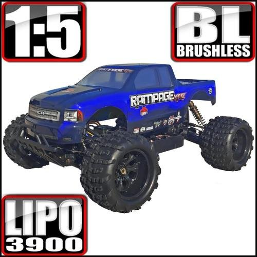Redcat Racing 8209-7912 BLUE RAMPAGE XT-E Electric Monster Truck