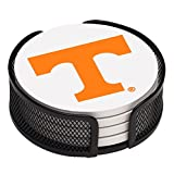 Thirstystone VUTN2-HA17 Stoneware Drink Coaster Set with Holder, University of Tennessee