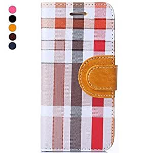 QHY Hat-Prince Irregular Plaid Pattern High Quality Protective Smart Case with Stand for iPhone 6 Plus (Assorted Colors) , Dark Brown