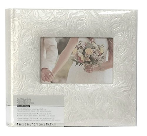 "Pearl Climbing Rose 2-UP Photo Album for 4"" x 6"""