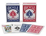 Bicycle Mini Decks Playing Cards, Red/Blue - Single Deck