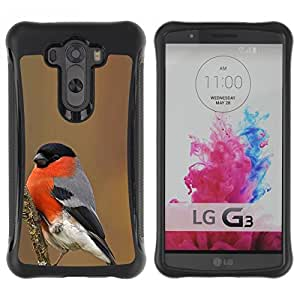 Paccase / Suave TPU GEL Caso Carcasa de Protección Funda para - spring winter bird nature red ornithology - LG G3