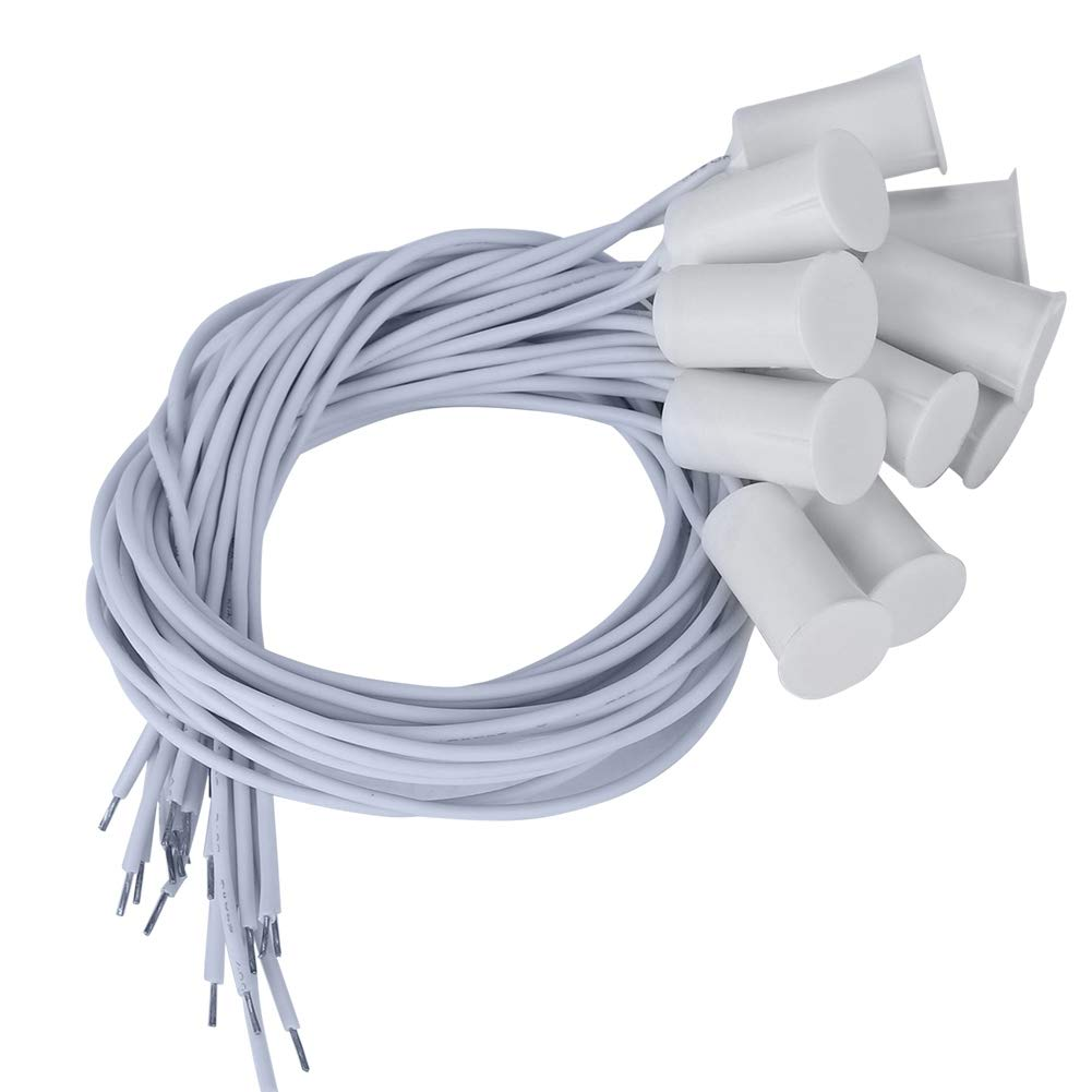 Interruptor magn/ético con Sensor de Ventana de Puerta con Cable 10pcs Sensor de Contacto de Puerta de Ventana de Seguridad Interruptor de l/áminas magn/ético de Alarma Blanco