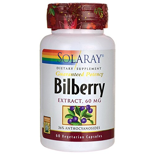 Cheap Solaray Bilberry Extract, 60mg, 60 Count