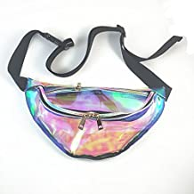 Rainbow Transparent Bag Punk Fanny Pack Punk Bum Bag Purse