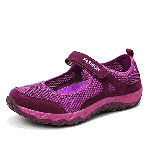 EU Sportive populalar Donna Scarpe Porpora 34 da Fitness Ballerine Traspirante Sneaker 40 Mesh Basse Ginnastica RwFqRCH