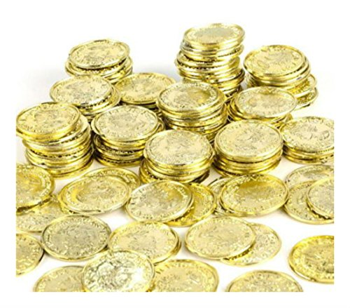 1000 Plastic Pirate Gold Play Toy Coins Birthday Party Favors Pinata Money Coin Purchase Now by DISCOUNT PARTY AND NOVELTY
