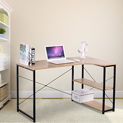 WOLTU Office Computer Desk for Small Spaces with 3 Tier Shelf Storage (Small Compact Computer Cabinet)