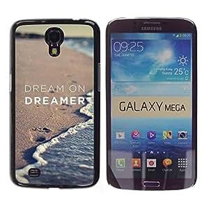 TopCaseStore / la caja del caucho duro de la cubierta de protección de la piel - Dreamer Sand Beach Ocean - Samsung Galaxy Mega 6.3 I9200 SGH-i527