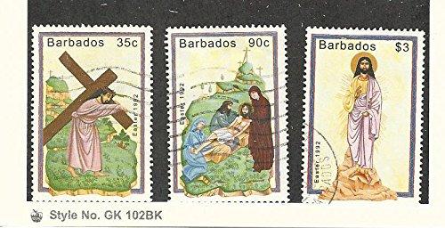 Barbados, Postage Stamp, 818, 820-821 Used, 1992 Easter ()