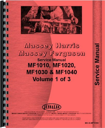 Massey Ferguson 1010 1020 1030L 1035 1040 1045 Tractor Service Manual (MH-S-MF1010+)