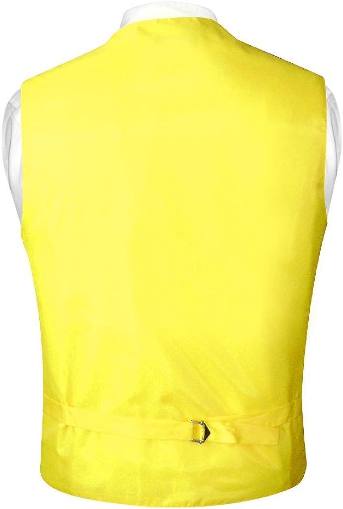 Vesuvio Napoli Mens Paisley Design Dress Vest /& Necktie Yellow Color Neck Tie Set