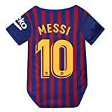 NUMBERSUIT Barcelona #10 Messi Baby Suit F.C. Home Cotton Soccer Bodysuits Infant OneSize Red/Blue