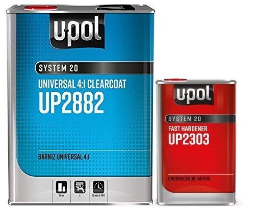 U-Pol 2882 FAST KIT U-POL Overall Clear URETHANE CLEARCOAT UNIVERSAL CLEAR 4:1 FAST KIT EUROPEAN STYLE CLEARCOAT w/NANOPARTICULATE TECHNOLOGY by U-Pol