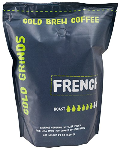 Cold Brew Coffee Packs - EASY at Home Brewing - Our BIG Bag Makes 200 oz of BOLD Cold Brew - 66% Less Acidic - Cold Grinds French (Dark Roast)