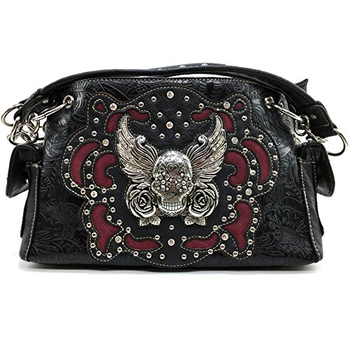 Skull and Crossbones Bling Concealed Carry Handbag Purse