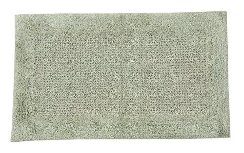 Castle Hill Naples 100% Cotton Bath Rug with Spray Latex Backing; 24x40; Sage - Super soft absorbent bath rug Anti-skid latex spray backing Easy care machine washable - bathroom-linens, bathroom, bath-mats - 51zVKXw3wOL -