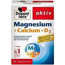 DOPPELHERZ Magnesium + Calcium + D3 Tabletten