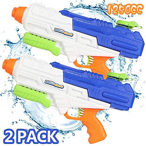 🥇 Nobie vivid Water Gun 2 Pack 1250CC High Capacity Water Soaker Blaster Squirt Gun Swimming Pool Beach Sand Water Fighting Toy for Kid&Adult