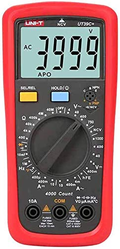 UNI-T UT39C Digital Multimeter NVC Auto Range With LCD Backlight Data Hold Multimetro Frequency Temperature tester